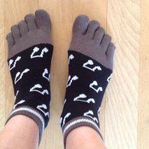 Chaussettes avec des orteils